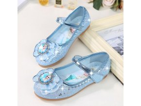 KKABBYII Children Shoes Kids Girls Fashion Princess Spring Cute Elsa Sandals Chaussure Enfants Flat Party Elsa 1