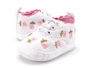Baby Girl Shoes White Lace Floral Embroidered Soft Shoes Prewalker Walking Toddler Kids Shoes free shipping 1