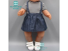 Baby clothes for doll fit 43cm toy new born doll and american doll fashion Striped T 1