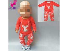 doll clothes for baby dolls clothes reindeer chritsmas wear for 43cm baby new born doll coat 1