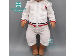 Toy baby doll clothes pink casual sports suitfor for 43cm new born doll and American doll 3