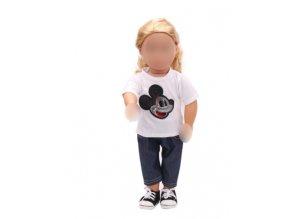 Kalhoty s tričkem pro American girl a Baby Born 43-45 cm