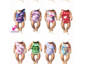 Fit for 43cm born baby doll dress doll swimsuit 18 doll swimming clothes 1