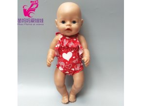Fit for 43cm born baby doll dress doll swimsuit 18 doll swimming clothes A1
