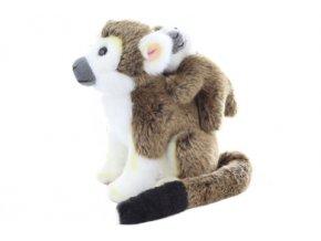 Plyš Kotul opice s mládětem 19 cm