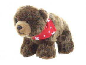 Plyš Medvěd se šátkem 25 cm