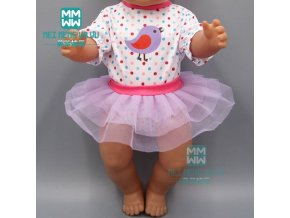 15 Style doll Clothes for 43cm new born doll accessories Casual jacket set baby jumpsuit 6