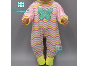15 Style doll Clothes for 43cm new born doll accessories Casual jacket set baby jumpsuit 4