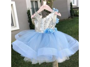 First Christmas Baptism Birthday Baby Dresses for 1 2 3 4 5 years Infant Toddler Newborn Blue