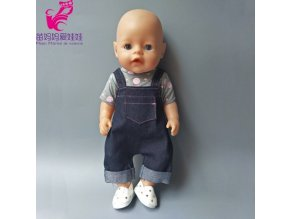 18 inch girl Doll winter long sleeve pajama set clothes and pants for Baby new Born No 3