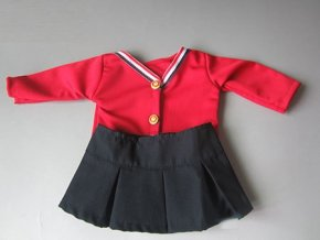 Baby clothes for doll fit 43cm new born dolls accessories print Cotton print dress for child wq005