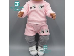 Clothes for doll fit 43cm toy new born doll and American doll accessories fur collar coat 2