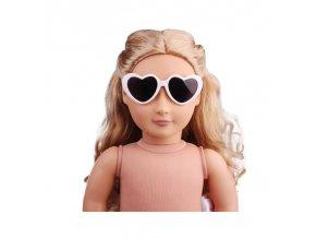 Mini Toys glasses for 40 45 cm baby born dolls and girl doll Plastic sunglasses white NO 1