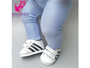 Tenisky na suchý zip pro American girl a Baby Born 43-45 cm
