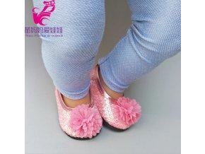 Baleríny s květinou zip pro American girl a Baby Born 43-45 cm