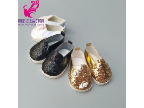 Doll shoes for 43 cm new born baby Doll black white Prink Shoes For 18 6