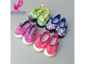 Doll shoes for 43 cm new born baby Doll black white Prink Shoes For 18 3