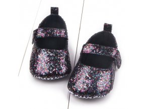 Baby Girls Cotton First Walker Toddler Sequin Infant Soft Sole Shoes Soft bottom Bebe Girls Shoes Black