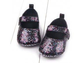 Baby Girls Cotton First Walker Toddler Sequin Infant Soft Sole Shoes Soft bottom Bebe Girls Shoes Black