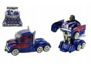 Transformer auto kamion tahač/robot plast 13cm