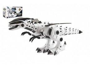 Dinosaurus chodící plast 40cm na baterie se zvukem a světlem v krabici 34x19x17cm