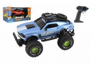 Auto RC plast 25cm OFF-ROAD 2,4GHz na baterie se světlem v krabici 36x19x20,5cm