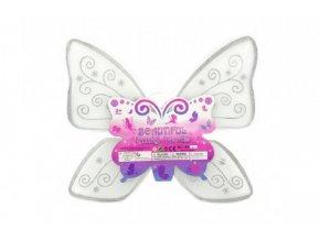 Křídla motýlí nylon 49x43cm v sáčku karneval