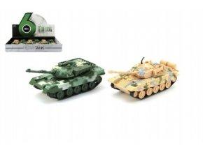 Tank plast/kov 16 cm 2 barvy na zpětné natažení
