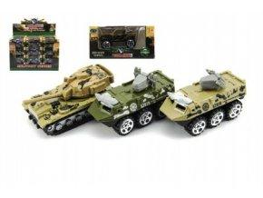 Tank/Auto vojenské/Obrněný transportér kov 7cm mix druhů