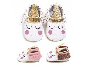 Cute Lovely Toddler Infant Baby Girls Cartoon Unicorn Printed Anti Slip First Walker Moccasins Crib Prewalker 1