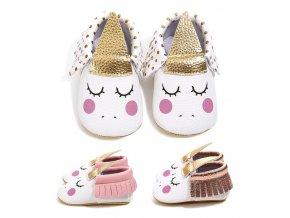 Cute Lovely Toddler Infant Baby Girls Cartoon Unicorn Printed Anti Slip First Walker Moccasins Crib Prewalker 1