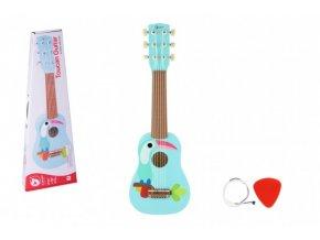 Kytara s trsátkem dřevo 52cm v krabici 55x19x7cm