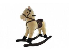 Kůň houpací béžový plyš výška 71cm nosnost 50kg v krabici 62x56x19cm