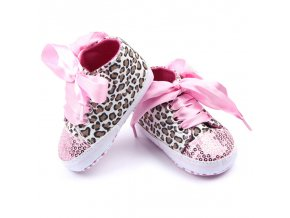 Multi Colors Child Kids Baby Sequin Sneakers Shoes Bling Leopard Toddler Baby Crib First Walkes 1