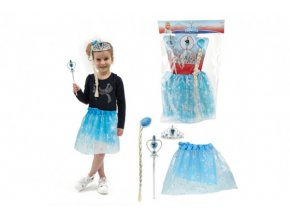 Kostým/sukně princezna Ledové království s doplňky v sáčku karneval