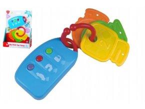 Klíče + dálkové ovládání 10cm plast na baterie se zvukem na kartě 6m+