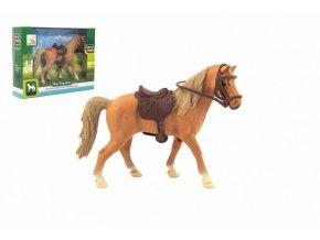 Kůň se sedlem plast 15cm v krabičce 19x14x5cm