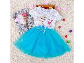 Kids 2 7years New Girls Dresses Vestidos Elsa Dress Kids Snow Queen Children Clothing Summer Girl blue