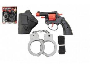 Pistole na kapsle 8 ran plast 13cm s pouzdrem s pouty na kartě