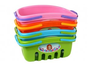 Nákupní košík plast 4 barvy 18x27x12cm