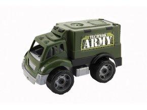 Auto vojenské plast na volný chod 19x18x31cm