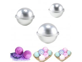6Pcs DIY Bath Bomb Mold Sphere Round Ball Molds Tool Supplies TB Sale 1