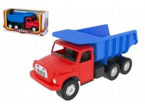 Auto Tatra 148 plast 30cm červenomodrá sklápěč v krabici