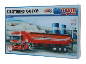 Stavebnice Monti System MS 57 Silotrans GUZEP Actros L-MB 1:48 v krabici 32x20,5x7,5cm