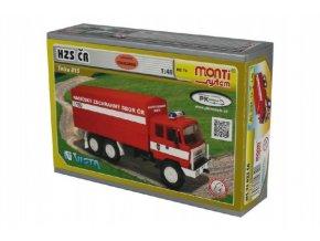 Stavebnice Monti System MS 74 Tatra 815 hasiči ČR 1:48 v krabici 22x15x6cm