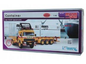 Stavebnice Monti System MS 08.2 Container Liaz 1:48 v krabici 31,5x16,5x7,5cm