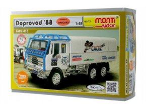 Stavebnice Monti System MS 75 Dakar doprovo 1988 Tatra 815 1:48 v krabici 22x15x6cm