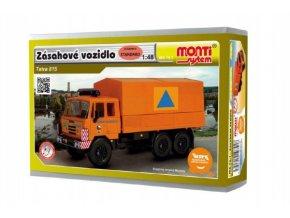 Stavebnice Monti System MS 74.1 Zásahové vozidlo CO Tatra 815 1:48 v krabici 22x15x6cm
