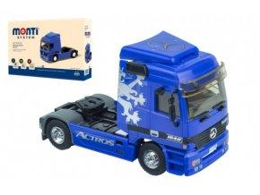 Stavebnice Monti System MS 53.1 Actros L (modrý) 1:48 v krabici 22x15x6cm