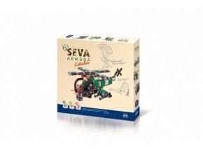 Stavebnice SEVA ARMÁDA Letectvo plast 511 dílků v krabici 35x33x5cm